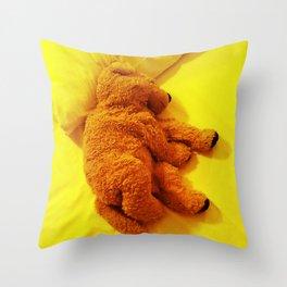 Love is... Teddy dog Throw Pillow