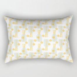 Modern pastel green orange fruit pasta abstract pattern Rectangular Pillow