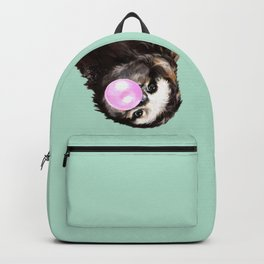 Bubble Gum Sneaky Sloth in Green Backpack
