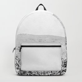 Deep Powder Trees // Black and White Landscape in the Rockies Backpack