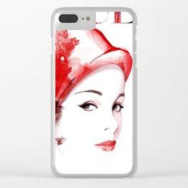Vogue Fashion Illustration #11 Clear iPhone Case