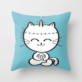 Lily Unicorn Kitty Throw Pillow