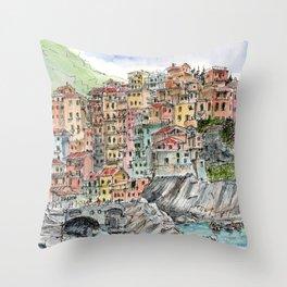 Manarola, Throw Pillow