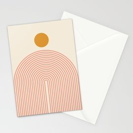 Abstraction_SUN_LINES_VISUAL_ART_Minimalism_001 Stationery Cards