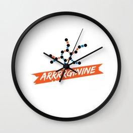 Biochemist Biochemistry Science Arginine Amino Acids Wall Clock