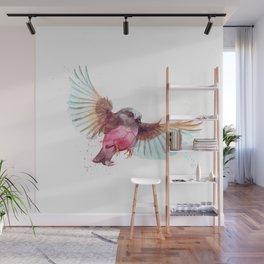Pink Robin Bird Wall Mural