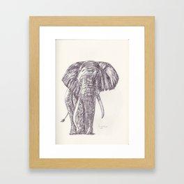 BALLPEN ELEPHANT 5 Framed Art Print