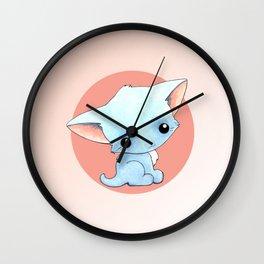 Little Blue Kitty Wall Clock
