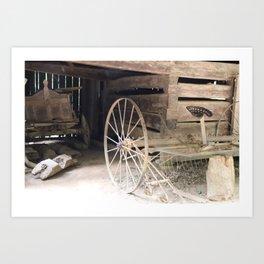 19th Century Farm Scene from Cades Cove Art Print