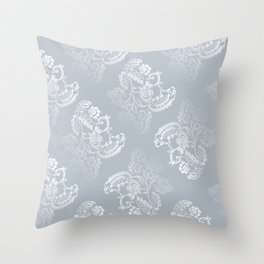 Light blue lace pattern Throw Pillow