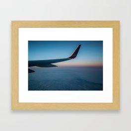 Sunrise in the Clouds Framed Art Print