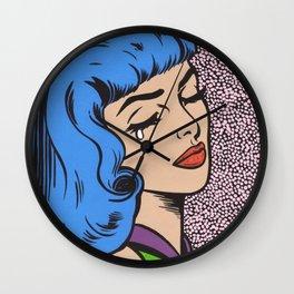 Blue Bangs Crying Girl Wall Clock