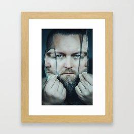 3 faced Framed Art Print
