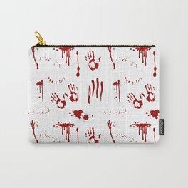 Halloween Bloody Handprints Blood Splatter Pattern Carry-All Pouch