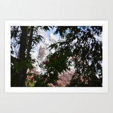 Mountain // Trees Art Print