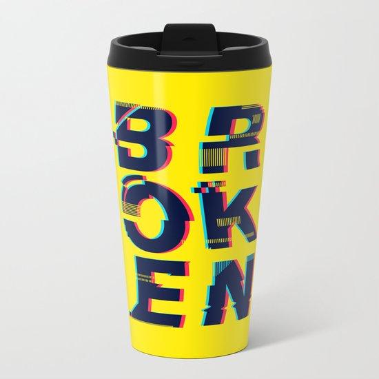 Typo Metal Travel Mug
