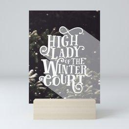 High Lady Winter Court - Snowing Mini Art Print