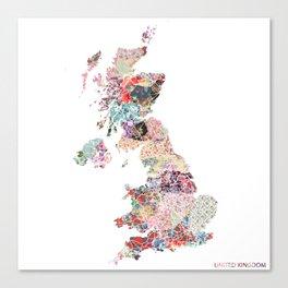 United Kingdom map Canvas Print