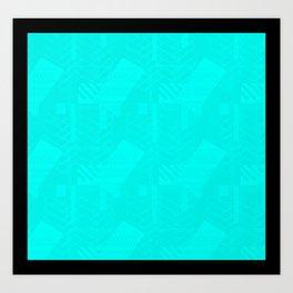 Ruby Rhombus Art Print