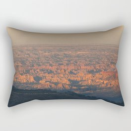 Sunset at the Canyon Rectangular Pillow