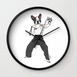 Kungfu Bulldog Lee Wall Clock