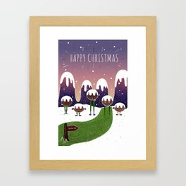 // In the mountains of Pudding Lane // Framed Art Print