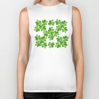 clover Biker Tanks featuring Clover Print by UMe Images