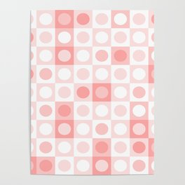 Dots and Squares Mixer in Pastel Pinks Poster