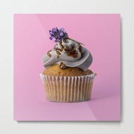 Lavender Cupcake Metal Print