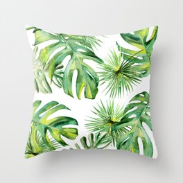 tropical again Throw Pillow