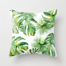 tropical again Throw Pillow