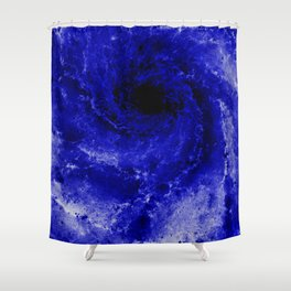 Black and Blue Shower Curtain