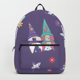 Garden Gnomes Neck Gator Garden Gnome Purple Backpack