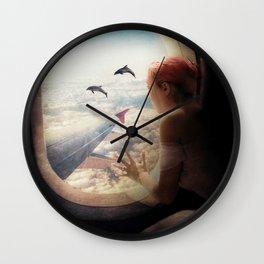 On My Way to Paris Wall Clock