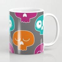 skulls Mugs featuring Skulls by Michael Goodson