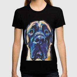 Fun ENGLISH MASTIFF Dog bright colorful Pop Art Painting by LEA T-shirt