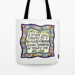 Quilt Quote Tote Bag