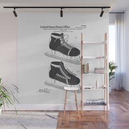 Hockey Skate Patent Wall Mural