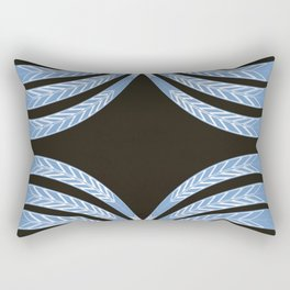 Blue Feathers of Ma'at Rectangular Pillow