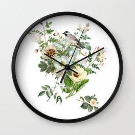 WHITE BIRD Wall Clock