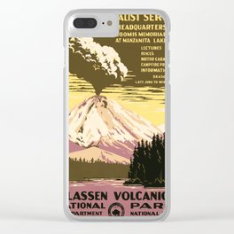 Vintage poster - Lassen Volcanic National Park Clear iPhone Case