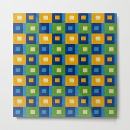 Summer laziness. Squares inside each other. Metal Print