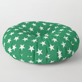 Stars (White & Olive Pattern) Floor Pillow