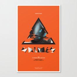 Grimes Gig Poster Canvas Print