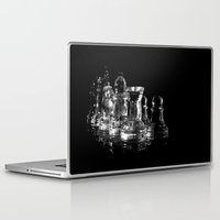 chess Laptop & iPad Skins featuring CHESS by  Monochromania/Anne Seltmann