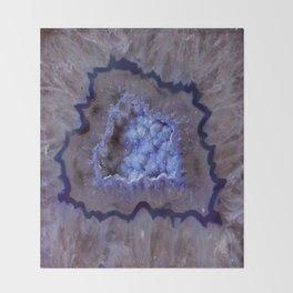 Quartz Inside Geode rustic decor Throw Blanket
