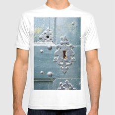 Old lock Mens Fitted Tee White MEDIUM