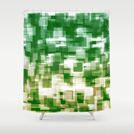 Green On Both Sides Shower Curtain