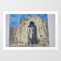 buddah Art Prints featuring Lost Buddah by Ronaldo Castro