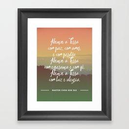Abençoe a Terra Framed Art Print